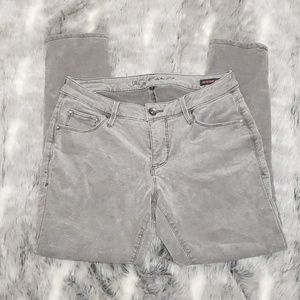 JAG Jeans Low Rise Skinny Ankle Grey Courdroy sz 6